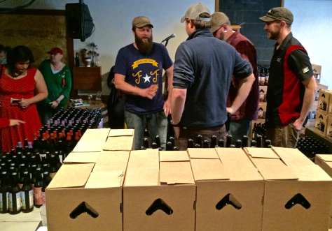 Jackie O's staff prepare for the annual Anniversary Bottle Sale