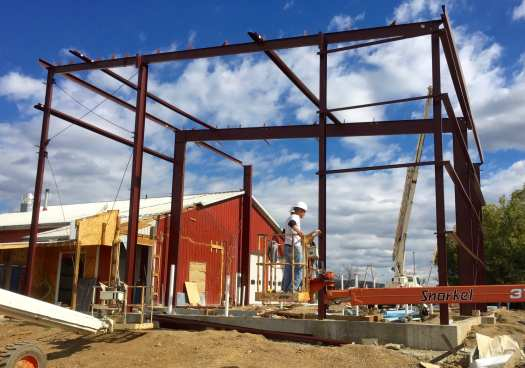 Steel going up at Jackie O's