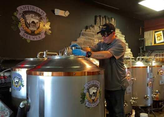 Maerzluft busy at work in Antietam Brewery