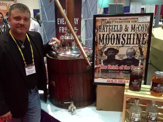 Chad Bishop of Hatfield & McCoy Distillery in Gilbert, WV