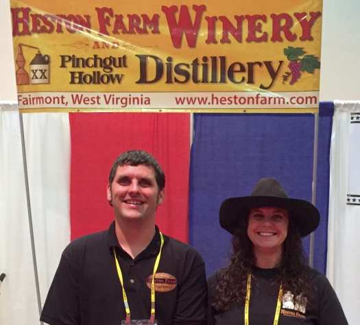 Michael Heston and Crystal Hickman of Pinchgut Hollow Distillery in Fairmont, WV
