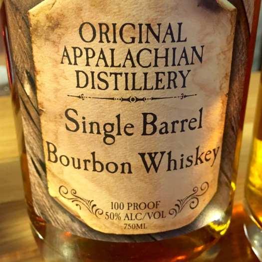 Appalachian Distillery bourbon bottle label