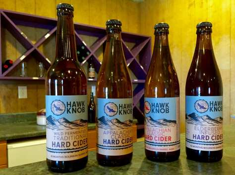 Four traditional-styled Hawk Knob ciders are now on sale at various locations around Lewisburg, WV.