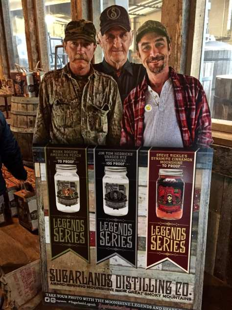 Moonshiners made popular by Discovery cable network are featured on many of the Sugarland Distillery products.