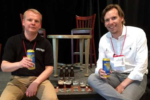 Albert and Yves with Petrus sour beer