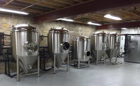 Parkersburg Brewing fermentation tanks