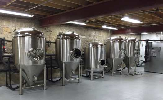 Parkersburg Brewing fermentation tanks