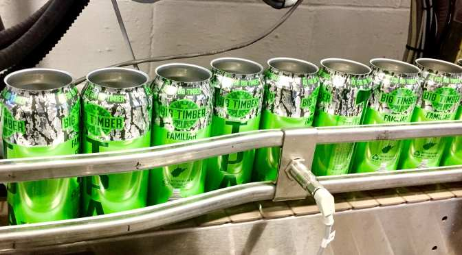 Canning day at Big Timber Brewing Company