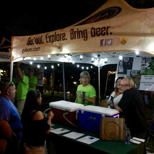 Night time was the right time at Rails & Ales