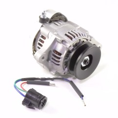 12 Volt Wiring Diagram For Lights Fasco 9721 Motor Amp Small Alternator 40 Negative Ground With ...