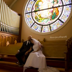 Lopez Moryl Wedding - balcony stained glass