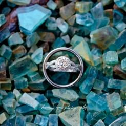 Lopez Moryl Wedding - rings blue rocks