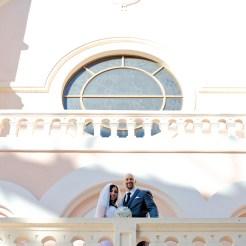Lopez Moryl Wedding - church outside