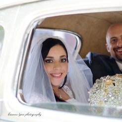 Lopez Moryl Wedding - inside car