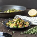Pan-Seared Brussels Sprouts & Pancetta