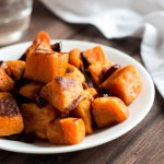 Sweet Potatoes with Cranberries and Maple-Apple Cider Vinaigrette
