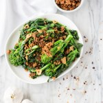 Garlicky Broccoli Rabe with Chili Breadcrumbs
