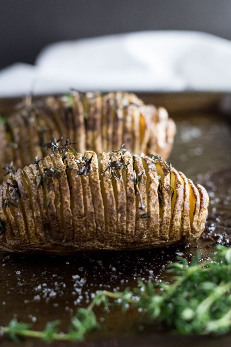Hasselback Potatoes with Thyme