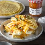 Crepes with Apricot & Whipped Mascarpone Filling