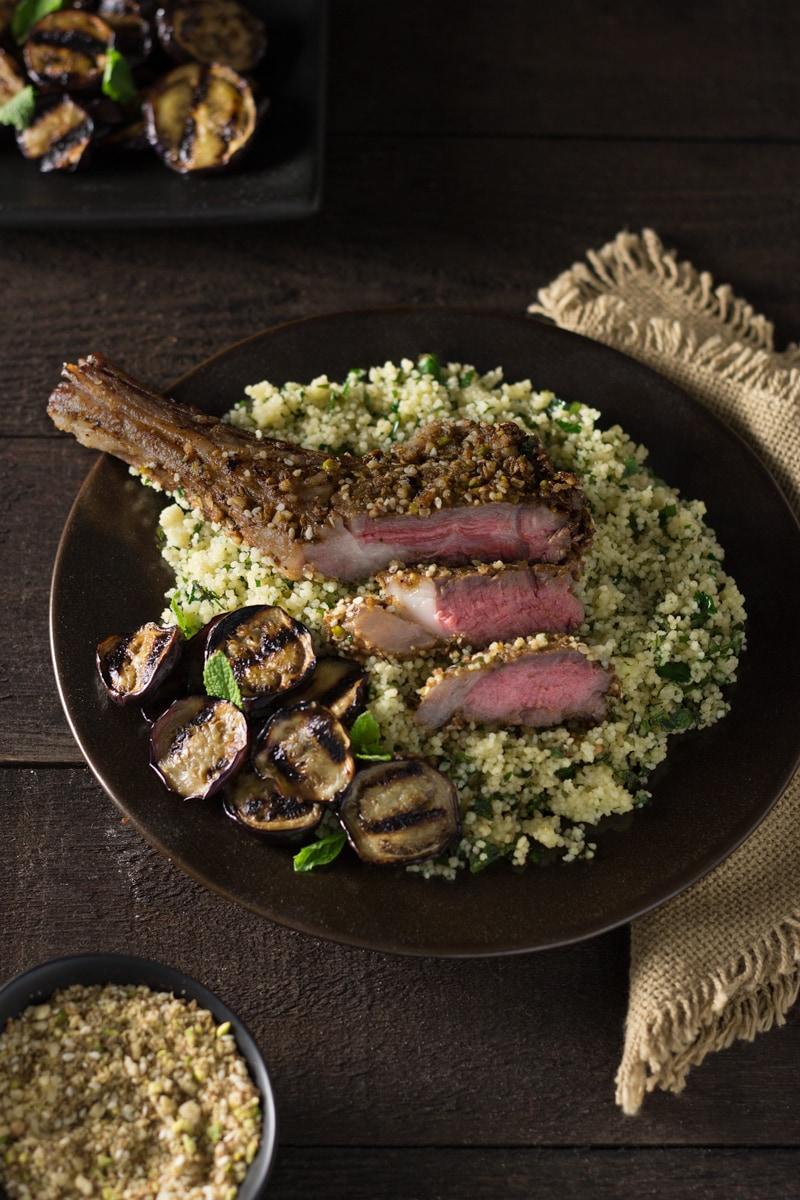 Dukkah Crusted Lamb Chops | Brinasbites.com @Brina's Bites