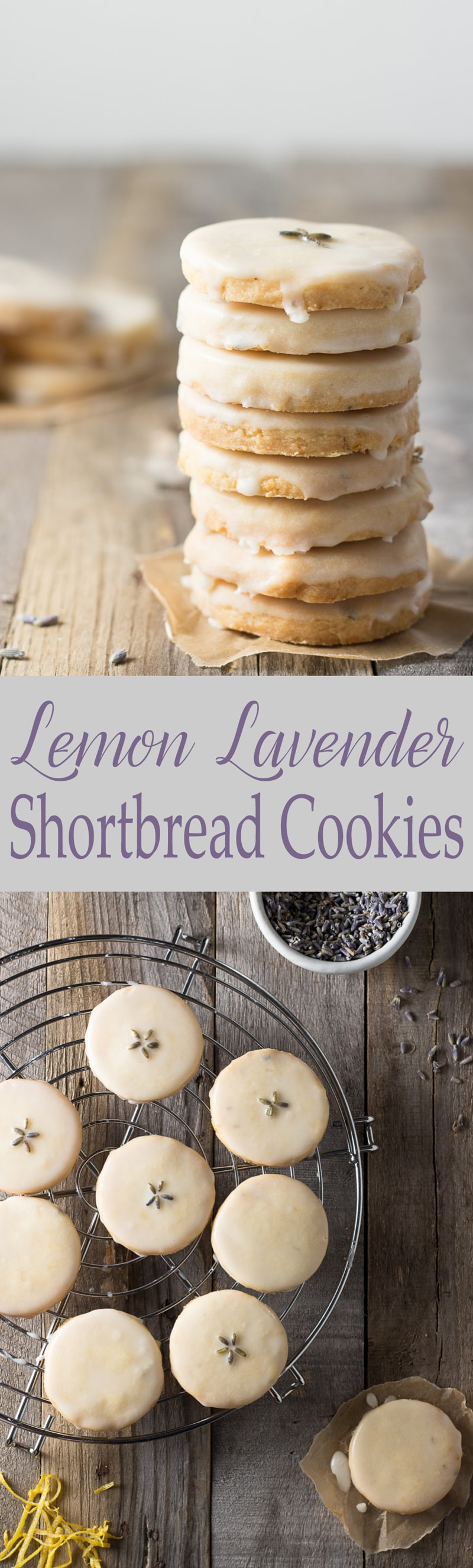 Lemon Lavender Shortbread Cookies | Brinasbites.com @Brina's Bites