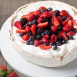 Pavlova with Whipped Cream & Berries