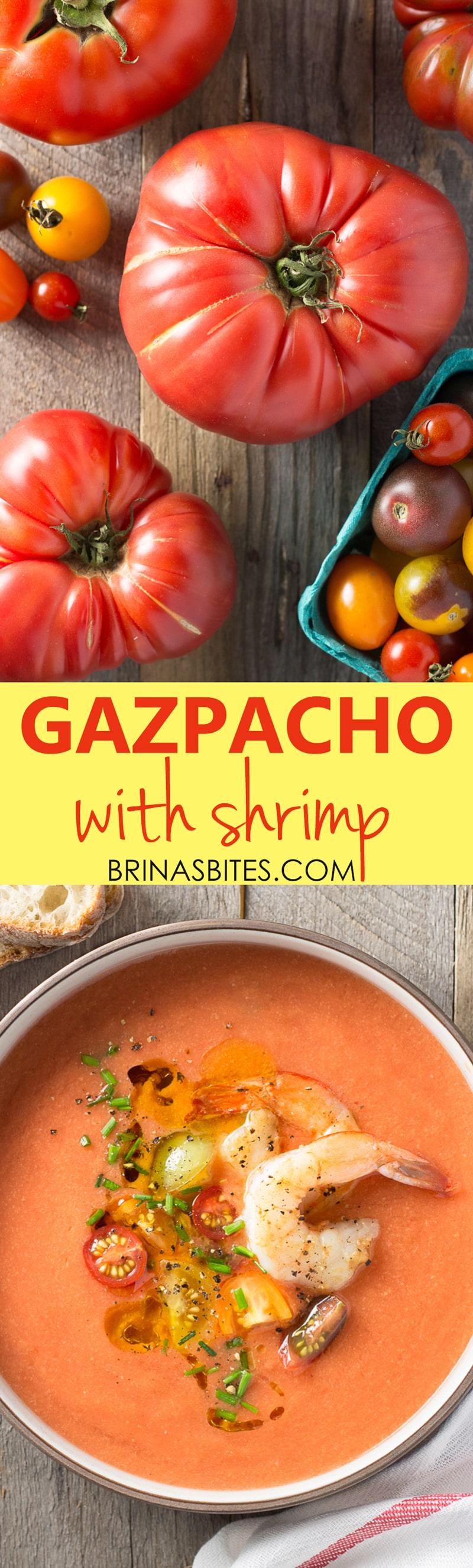 Gazpacho with Shrimp | Brinasbites.com @Brina's Bites