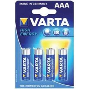 Crtz c/4 Pilhas Alcalinas AAA High Energy - Varta