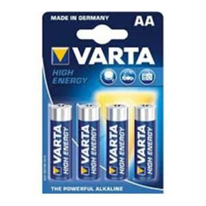 Cartaz c/4 Pilhas Alcalinas AA High Energy - Varta