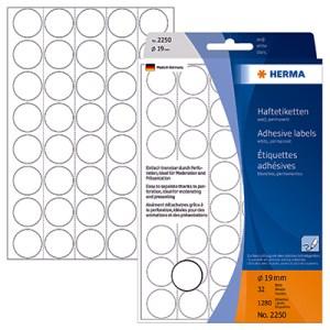 Etiqueta Herma 19mm Branco 2250