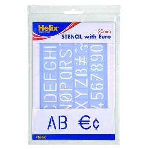 Escantilhão Helix Alfabeto c/ Euro 20mm