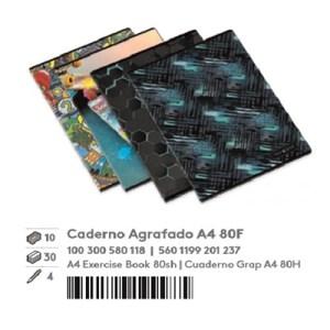 Pack 10 cadernos agrafados A4 60fls pautado - Inverse