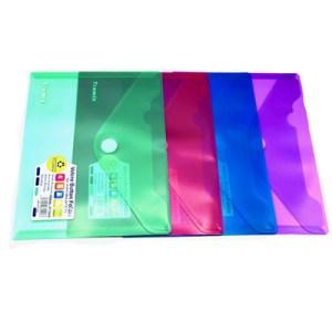 Emb. c/12 bolsas A4 cores sortidas - Fecho velcro