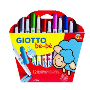 Emb. c/12 Super marcadores - Giotto Bebe