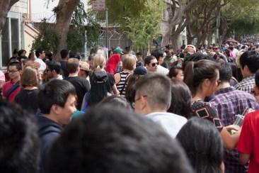 Epic line (+crowd) for takoyaki.