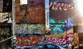 I love all the colors in combination with the brick wall.