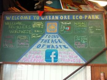 Their chalk board sign.