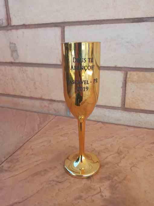 Taça de Champanhe Metalizada 190ml