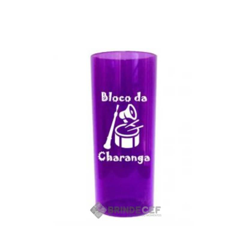 Copo Long Drink Personalizado Roxo transparente