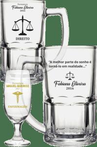 copos de vidro personalizados