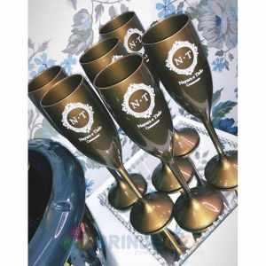 Taça de Acrílico Personalizada Casamento Nayara e Tielo