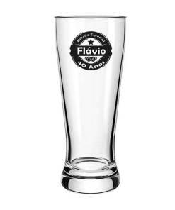 Copo de Cerveja de Vidro Lager Personalizado 300ml
