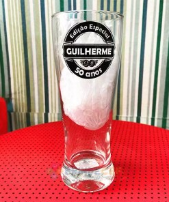 Copo de Vidro Lager Guilherme 50 Anos