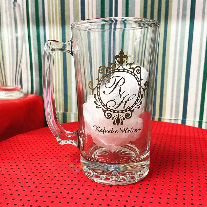 Caneca de Vidro de Cerveja Manhattan 383ml