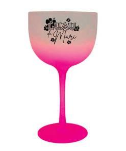 Taça de gin de Acrílico 475ml Degrade cor Rosa Luau da Mari