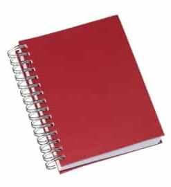 Agenda Wire-o Metalizada Lisa Vermelha Agenda Diária Modelo 2022