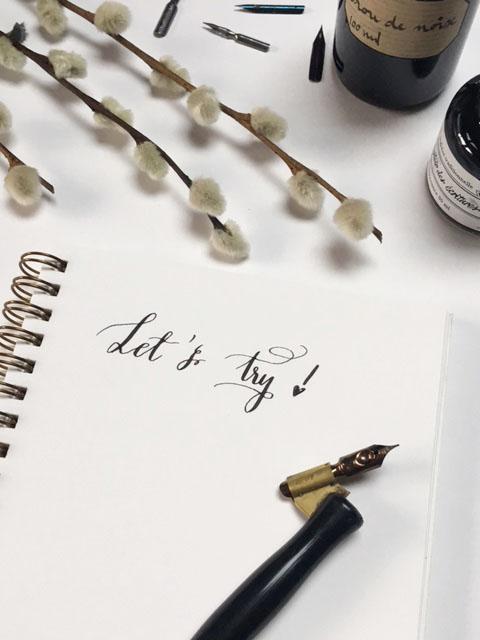 de la calligraphie pour des commandes personnalisées