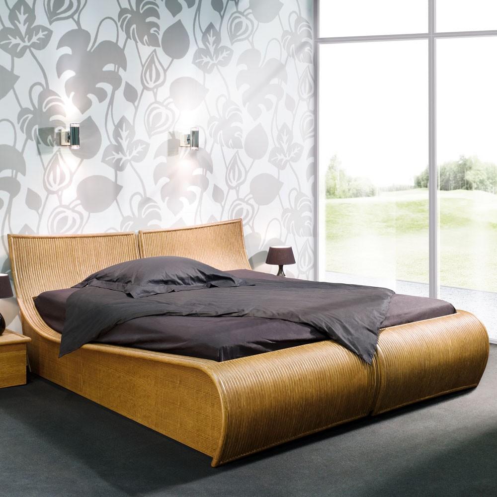 Chambre à Coucher En Rotin Tête De Lit Et Lit En Rotin Haut De Gamme c6cc6908ebca