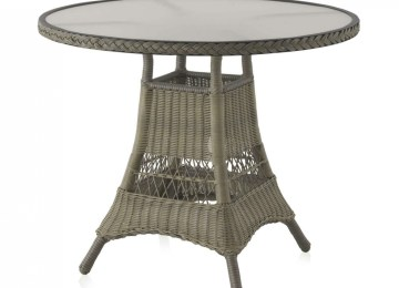 Salon De Jardin Table Ronde En Verre | Table De Jardin Bistrot Ronde ...
