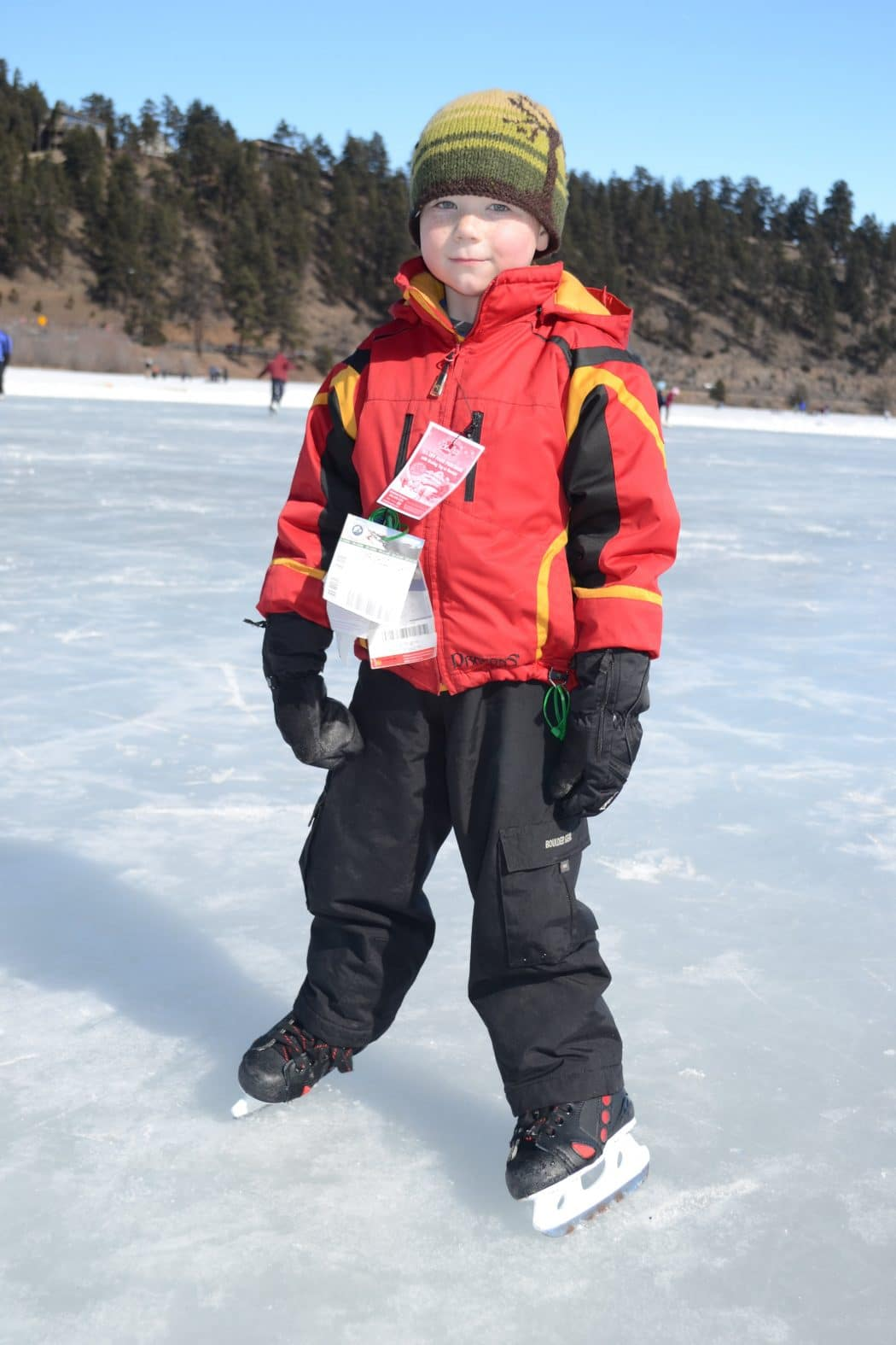 Ice Skating on Evergreen Lake - Bring The Kids